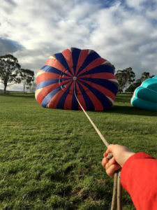 Top of the balloon as it inflates