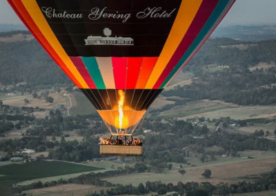 flying over the Yarra Valley