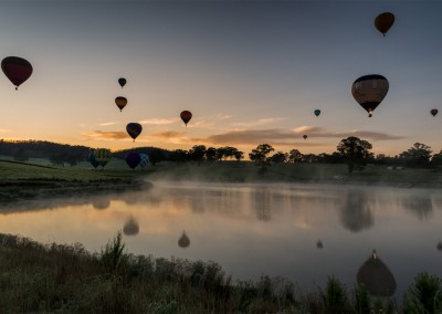 Dawn flight in the Yarra Valley - Photograph by A.Yap