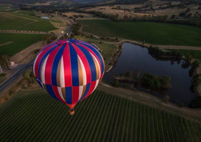 Flying over the vines